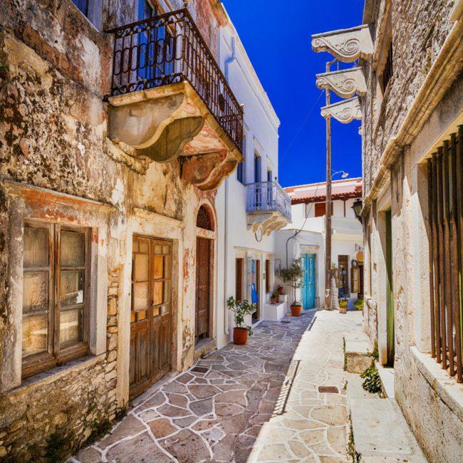 Griechische Straße auf Naxos