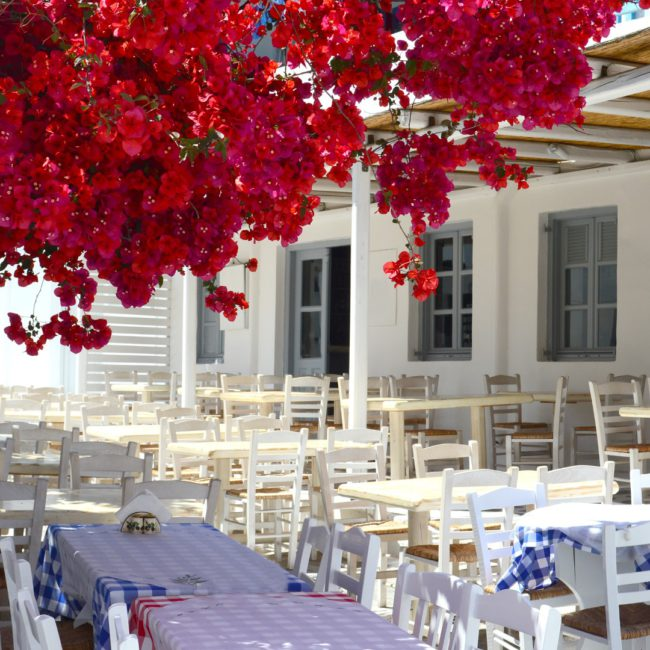 Traditionale griechische Taverne
